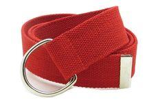 "Canvas Web Belt D-Ring Buckle 1.5"" Wide Metal Tip Plus Si..."
