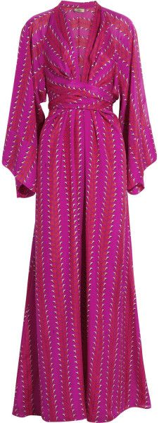 ISSA as seen on HRH Catherine of Wales Printed Silk Maxi Dress…