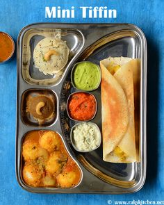 Learn how to make South Indian recipes, North Indian recipes and eggless baking recipes with step by step pictures and videos! North Indian Recipes, South Indian Food, Indian Food Recipes, Vegetarian Recipes, Food Menu, A Food, Food And Drink, Tiffin Menu, Breakfast Platter