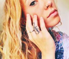 small elephant finger tattoo