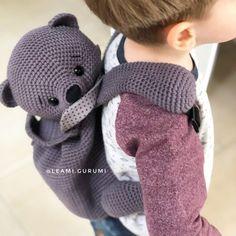 Baby Mittens Knitting Pattern, Crochet Backpack Pattern, Free Crochet Bag, Crochet Patterns Amigurumi, Crochet For Kids, Crochet Toys, Kawaii Crochet, Crochet Bunny, Baby Sewing Projects