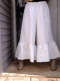 White Wide Ruffle Bloomers L by sarahclemensclothing on Etsy, $99.00