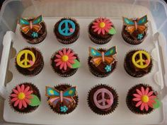 Cup cakes hippie chic