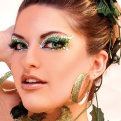ENVY Xotic Eyes Green Glitter Professional Make Up, St Patricks Day, Acrylic Adhesive, Peel, Stick, Fill and Go, Sweat Proof, Xotic Eyes $29.55