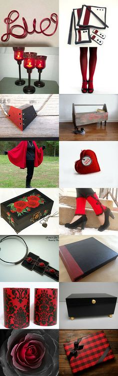 Black and Red by Monica D on Etsy--Pinned with TreasuryPin.com