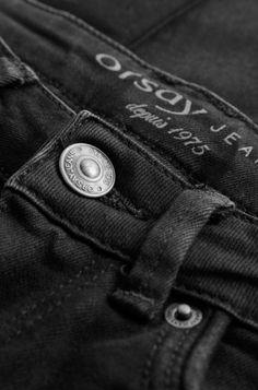 ORSAY JEANS | Skinny black destroy jeans with sequins #mywork #fashiondesigner #closeup