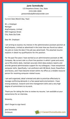 54 Best Cover Letter Template images | Cover letter template ...