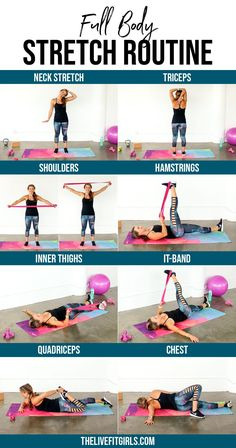 Hiit Workout Routine, At Home Workout Plan, Yoga Routine, At Home Workouts, Daily Exercise Routines, Exercise Motivation, Exercise Schedule, Daily Stretches, Stretches For Flexibility
