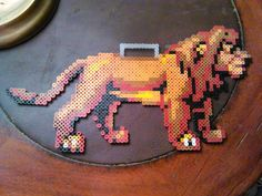 Mufasa - The Lion King perler beads by FluffyRosey Hama Beads Disney, Perler Bead Disney, Perler Bead Art, Pixel Beads, Fuse Beads, Pearler Beads, Hama Beads Patterns, Beading Patterns, Pixel Art