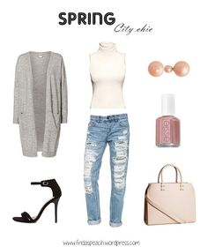 spring ootd, outfit of the day, spring city chic. Asos, H&M, Vero Moda, Essie