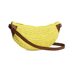 Cute Weaving and Banana Shape Design Crossbody Bag For Women (31 BAM) ❤ liked on Polyvore featuring bags, handbags, shoulder bags, yellow crossbody, yellow cross body purse, yellow shoulder bag, crossbody shoulder bag and yellow handbags