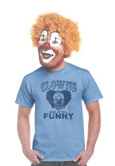 funny clown t-shirt creepy clown shirts circus tees gifts for carnies carnival tshirts screen print clown humor apesnort tees large 2xl