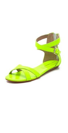 neon Rebecca Minkoff - Bettina sandals - now on sale!