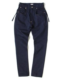 Kapital indigo pants Five pockets denim pants in deep blue color, made by 14oz. fabric Composition: 100% cotton Made in Japan
