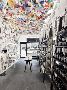 Aesop's Chelsea boutique is shrouded in copies of The Paris Review