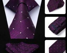 Elegantná sada - hodvábna kravata s vreckovkou - fialový vzor0 Tie, Accessories, Fashion, Moda, La Mode, Cravat Tie, Fasion, Ties, Fashion Models