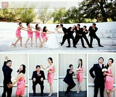 Tug of war wedding party