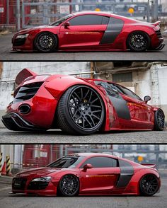 Liberty Walk Audi R8 with @AirrexUSA air suspension on @Forgiato Freddos in matte black @libertywalkkato