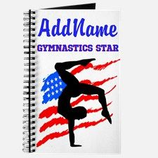 GYMNAST STAR Journal Give the holiday gift every Gymnast will treasure with our personalized Gymnastics Tees and Gifts.   http://www.cafepress.com/sportsstar/10114301 #Gymnastics #Gymnast #WomensGymnastics #Lovegymnastics #Personalizedgymnast
