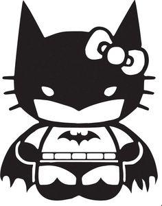 Hello Kitty Batman #BatKitty #BatHelloKitty #Gothan #GothanKitty