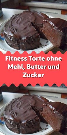 Fitness cake without flour butter and sugar – Kuchen Ideen Easy Chocolate Desserts, Chocolate Cake Recipe Easy, Homemade Chocolate, Delicious Chocolate, Chocolate Recipes, Chocolate Chocolate, Homemade Desserts, Quick Dessert Recipes, Easy Cookie Recipes