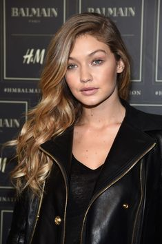 Gigi Hadid at the 2015 Balmain x H&M collection launch. http://beautyeditor.ca/2015/10/26/best-beauty-looks-beyonce