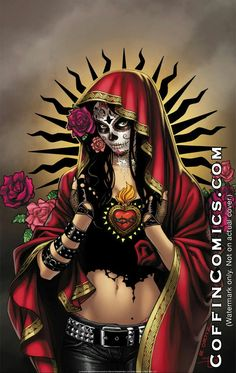 Hot print Day of the Dead Day Of The Dead Artwork, Day Of The Dead Skull, Sugar Skull Tattoos, Sugar Skull Art, Sugar Skulls, Candy Skulls, Chicano Tattoos, Chicano Art, Los Muertos Tattoo