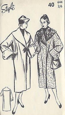 1950s Vintage Sewing Pattern B40 COAT (1321)