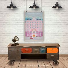 The Grand Budapest Hotel Art Print. Wes Anderson Films Poster.