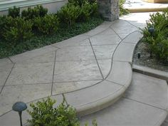 Textured, Grey  Concrete Walkways  Concrete FX  Warrenton, VA  #homeoutside