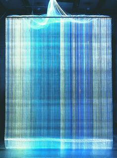 2002  Astrid Krogh  Tapestry  Optic fibres  330 x 250 cm  Unique piece made for the exhibition Tapestries at the Museum of Decorative Arts Copenhagen