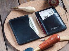 Black Horween Chromexcel Leather Bifold Wallet