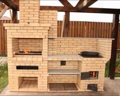 Outdoor Barbeque, Pizza Oven Outdoor, Outdoor Cooking, Brick Built Bbq, Brick Grill, Backyard Kitchen, Backyard Patio, Barbecue Design, Bbq Grill