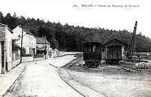 La station terminus de Melun-Ville avant 1914 avec sa grue, près de l'Almont