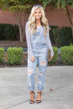 75f4bbd5cb2 Let s Hit The Road Distressed Denim Overalls Denim Overalls Outfit