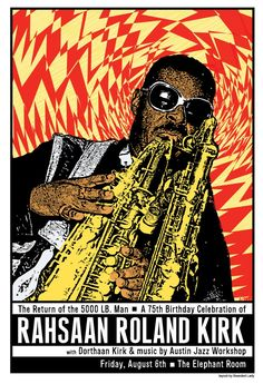 Awesome Classic Jazz Posters And Inspiring Ideas Of Compare Prices On Music 15 Rock Posters, Concert Posters, Music Posters, Bari, Roland Kirk, Hard Bop, Jazz Poster, Classic Jazz, Bearded Lady
