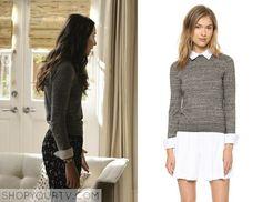 Pretty Little Liars: Season 5 Episode 14 Spencer's Grey Collared Sweater
