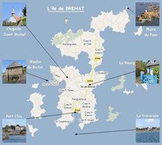 good map for island   L'île de Brehat