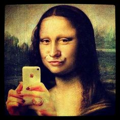 Mona Lisa Selfie - with a duck face!