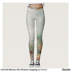 #Colorful #Abstract Art Women's #Leggings #forher design by @halotee.Check out to get up 17% off with code ZAZSEVENTEEN on Zazzle today.