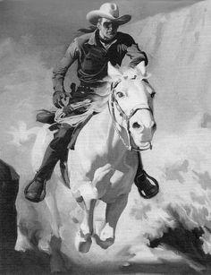 Lone Ranger featured at Waldoboro museum - Knox VillageSoup Western Comics, Western Art, Harley Davidson Art, Marvel Comics Superheroes, Vintage Television, The Lone Ranger, Tv Westerns, Cowboy Art, Pulp Art