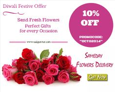 "Perfect Gift for any occasion.  10% OFF on #Flowers this Festive Season  Promocode: ""OCTO2014"" offer Valid till 31stOctober  Amazing collection of Assured Gifts and Draw Click --> bit.ly/ShopnWinFreeGifts  Click here for all kinds of flowers: http://is.gd/FestiveFlowers"