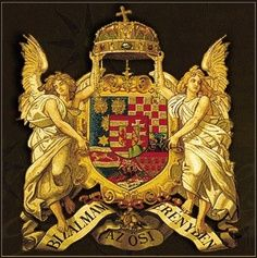 Angyalos címer - coat-of-arms with angels Hungarian Tattoo, Hungary History, Heart Of Europe, In A Little While, Old World Charm, Budapest Hungary, My Heritage, Coat Of Arms, Middle Ages