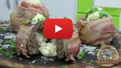 Irresistível: cebola recheada com carne moída e enrolada no bacon