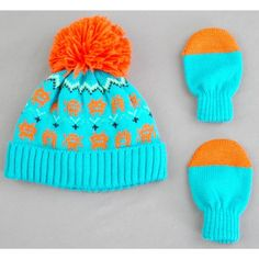 51e9e7fb187bd Toddler Boys  Monster Hat and Mitten Set - Cat   Jack Green 2T-5T