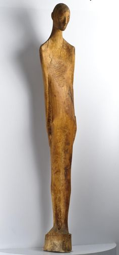 The Adamson Collection/ a few images: Wooden sculpture of a person