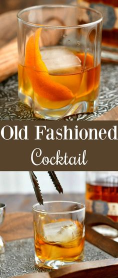 Brandy Old Fashioned, Old Fashioned Drink, Old Fashioned Recipes, Old Fashioned Cocktail, Whiskey Cocktails, Easy Cocktails, Cocktail Drinks, Bourbon Whiskey, Alcoholic Cocktails