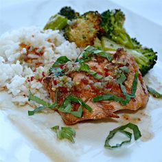 """Fast Salmon with a Ginger Glaze I """"This will be the only way I'm preparing salmon again!!! Absolutely perfect - boyfriend commented four times how he loved it - better than any restaurant we've had salmon in!"""""""