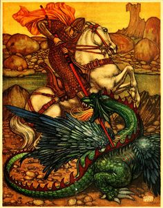 Maurice Lalau ~ The Romance of Tristram and Iseult ~ 1909  Tristram spurred his horse  against him with such fury...