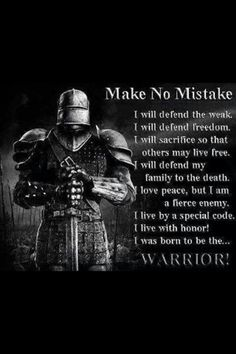 .Warrior!  I love our troops...past, present, and future.  Thank you